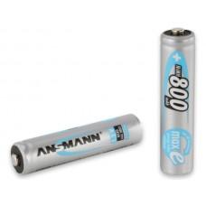 Ansmann laddningsbara AAA 800 mah batterier