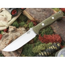 Bark River Bravo 1.2 A2 Green Canvas Micarta