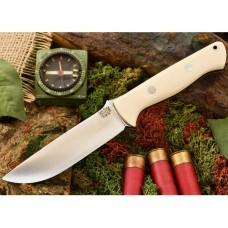 Bark River Bravo 1.25 CPM 3V White Bone Micarta Black Liner