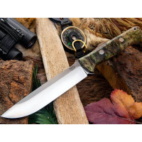 Bark River Bravo 1.5 CPM 3V Gray & Green Elder Burl
