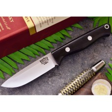 Bark River Bravo EDC Svart Canvas Micarta Elmax Drop Point