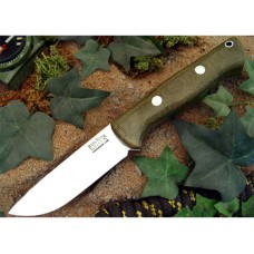 Bark River Bravo 1 Green Micarta Rampless Fullheight Grind