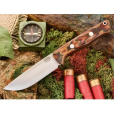 Bark River Bravo 1 Snakeskin Burgundy Micarta CPM Cru-Wear Rampless