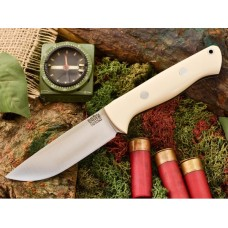 Bark River Bravo 1 White Bone Micarta Black Liner CPM Cru-Wear Rampless