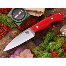 Bark River Bush Seax Bantam Red Linen