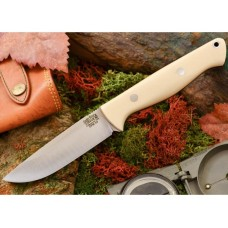 Bark River Gunny Hunter Jimped CPM 3V White Bone Micarta