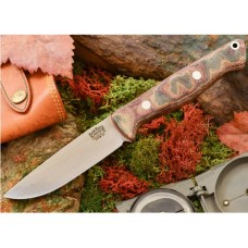 Bark River Gunny Hunter Jimped CPM 3V Snakeskin Burgundy Matte