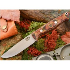 Bark River Gunny Hunter Jimped CPM 3V Snakeskin Burgundy