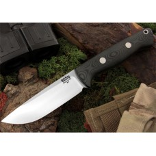 Bark River Bravo 1 Black Linen Micarta Rampless
