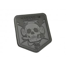 Hazard 4 SpecOp Skull Patch Black/Gray