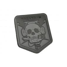 Hazard 4 SpecOp Skull Patch Black/Gray