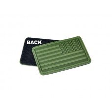 U.S. Flag Patch OD Green Right Arm