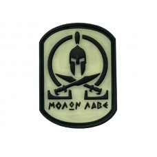 JTG Molon labe spartan blackghost velcro patch