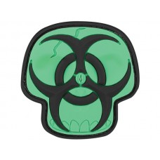 Maxpedition Glow Biohazard Skull Patch