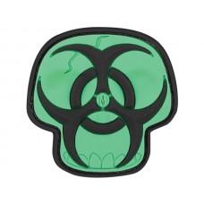 Maxpedition Glow Biohazard Skull Patch