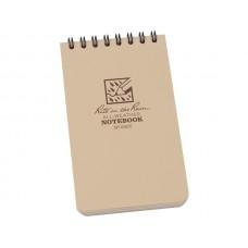 Rite in the Rain 3 x 5 Top Spiral Notebook Tan