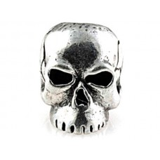Classic Skull Bead Pewter