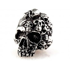 Mind Skull Bead Pewter
