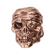 One-Eye Jack Skull Bead Copper